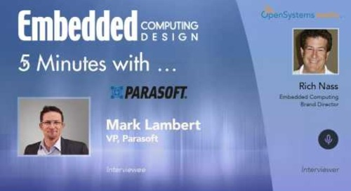 Five Minutes With…Mark Lambert, VP, Parasoft