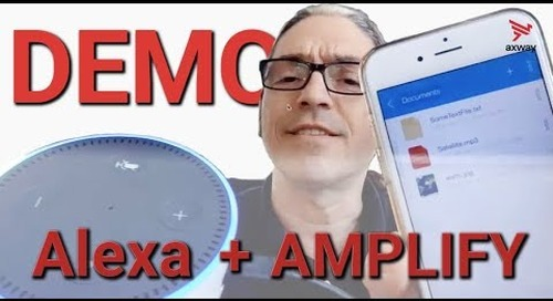 Demo | Using Axway AMPLIFY to Power Amazon Alexa