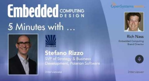 Five Minutes With… Stefano Rizzo, SVP of Strategy and Business Development, Polarion Software