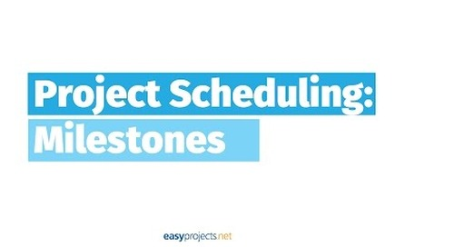 Project Scheduling with Milestones