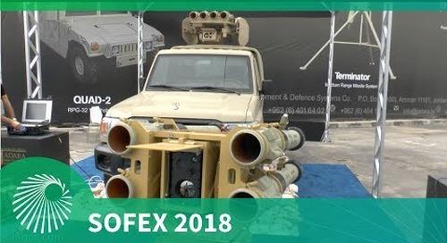 SOFEX 2018: Jadara Quad 1 & Quad 2 RPG-32 missile systems