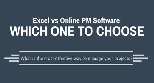 Infographic: Excel vs Online PM Software