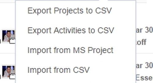 Easy Projects Update: Exporting the Activity Center