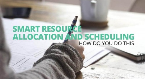 Smart resource allocation and task scheduling; How do you do this