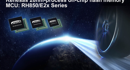 Renesas 28 nm automotive control MCU integrates 16 MB on-chip flash, up to six CPU cores