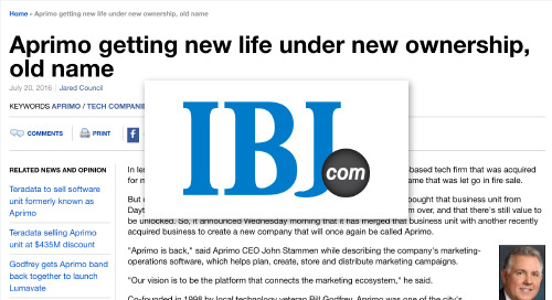 Aprimo getting new life under new ownership, old name [Indianapolis Business Journal]