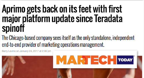 Aprimo gets back on its feet with first major platform update since Teradata spinoff [MarTech Today]