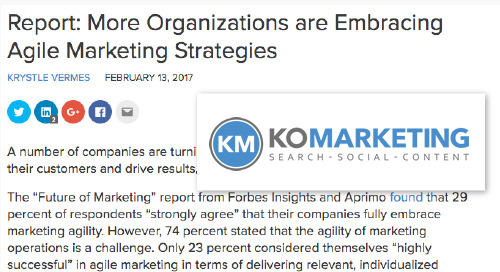 Report: More Organizations are Embracing Agile Marketing Strategies [KoMarketing]