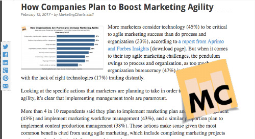 How Companies Plan to Boost Marketing Agility [Marketing Charts]