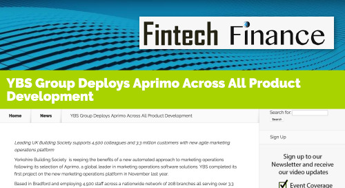 YBS Group Deploys Aprimo Across All Product Development [FinTech Finance]