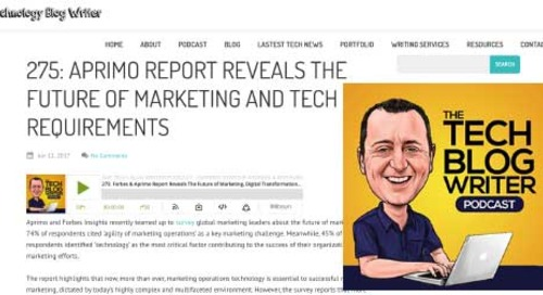Aprimo Report Reveals the Future of Marketing and Tech Requirements [Technology Blog Writer]