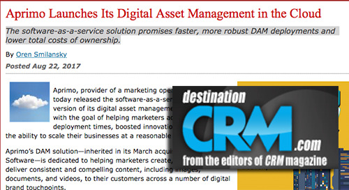 Aprimo Launches Its Digital Asset Management in the Cloud [DestinationCRM.com]