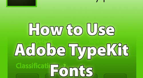 How to Use Adobe Typekit Fonts