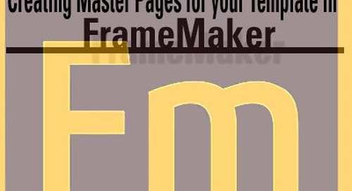 Creating Master Pages for your Template in FrameMaker
