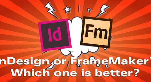 InDesign or FrameMaker: Which to Use?