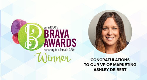 Ashley Deibert named 2017 Brava Award Winner by SmartCEO