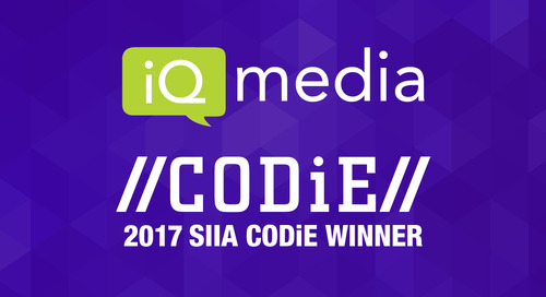 iQ Media Recognized by SIIA as Best Big Data and Tools Platform