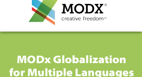 MODX Globalization for Multiple Languages
