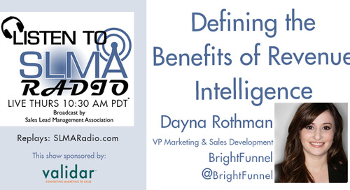 SLMA Radio: Defining the Benefits of Revenue Intelligence