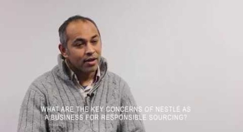 Video: Robin Sundaram shares the importance of responsible sourcing for Nestlé