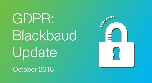GDPR - October Update