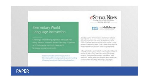Special Report—Elementary World Language Instruction