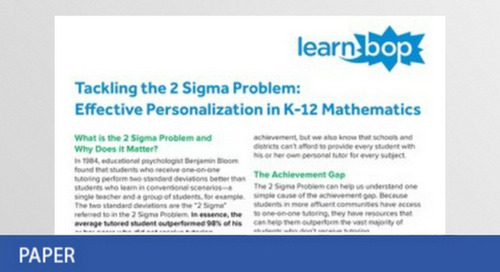 Tackling the 2 Sigma Problem in Mathematics