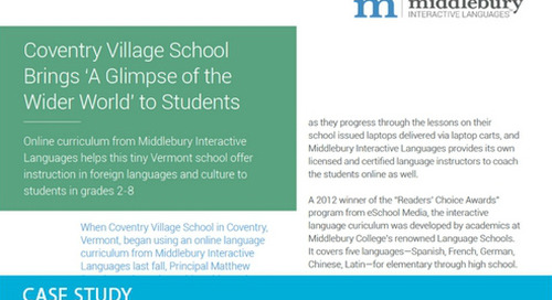 Coventry Village Schoool Brings 'A Glimpse of the Wider World' to Students