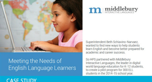 Meeting the Needs of English Language Learners