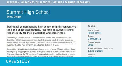 Case Study: Summit High School, OR