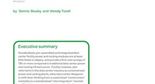 WP 163 - Prefabricated Power and Cooling Modules for Data Centers