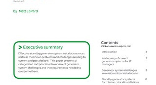 WP 90 - Essential Standby Generator System Requirements for Next Generation Data Centers