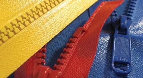 Polyurethane Coated Vislon® zipper