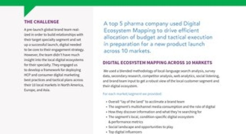 Case Study: Digital Strategy for Pharma Global Product Launch