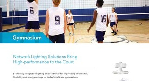Network Lighting Solutions Bring High-performance to the Court: Gymnasium Solutions Guide