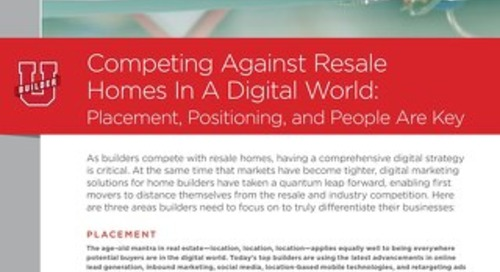 WHITEPAPER: Competing Against Resale Homes