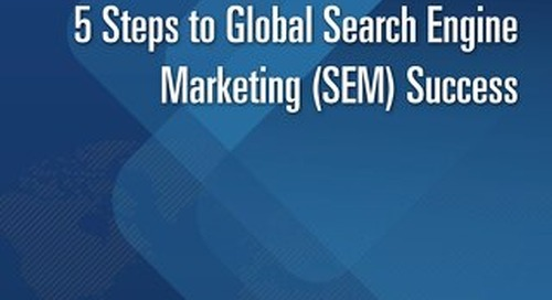 5 Steps to Global Search Engine Marketing Success