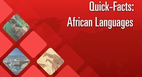Quick Facts: African Languages