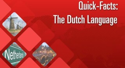 Quick Facts: The Dutch Language