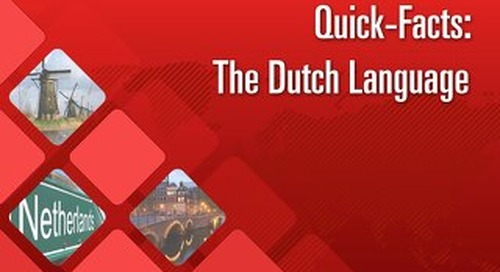 Quick Facts: The Dutch Language