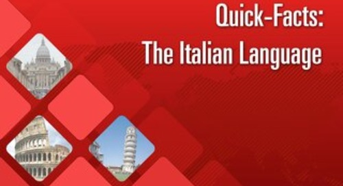 Quick Facts: The Italian Language