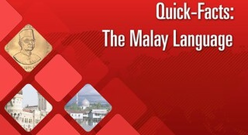 Quick Facts: The Malay Language