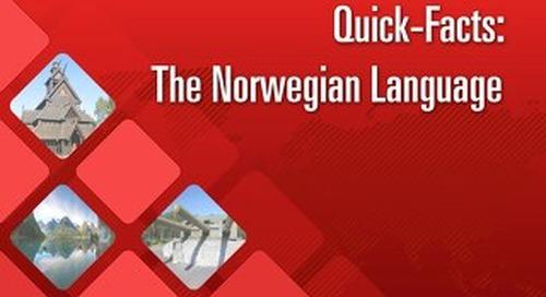 Quick Facts: The Norwegian Language