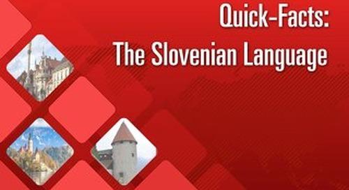 Quick Facts: The Slovenian Language