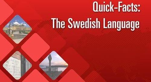 Quick Facts: The Swedish Language