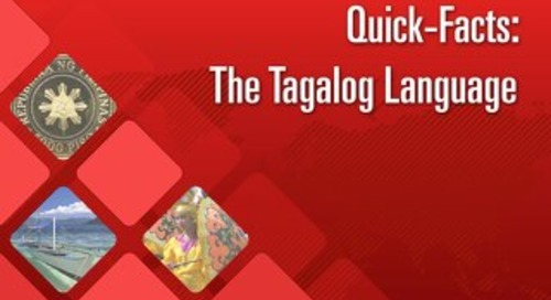 Quick Facts: The Tagalog Language