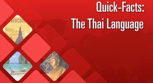 Quick Facts: The Thai Language