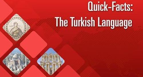 Quick Facts: The Turkish Language