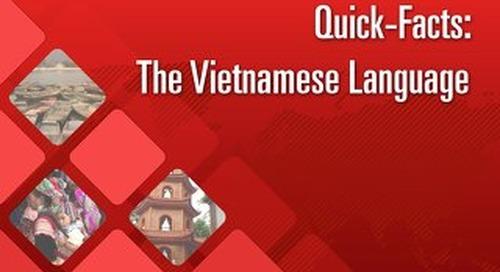 Quick Facts: The Vietnamese Language