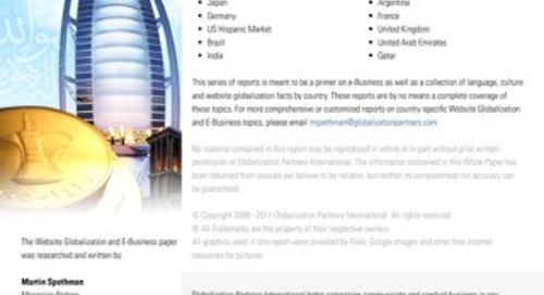 Website Globalization and E-Business - United Arab Emirates